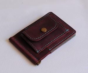 Зажим для грошей  з монетницею Шкіра: Крейзі хорс