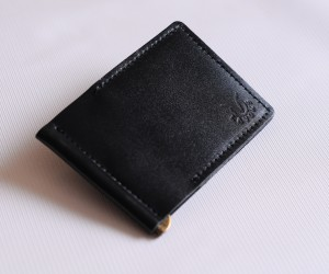 """Зажим для грошей """" 2 кішені"""" Шкіра: кайзер"""