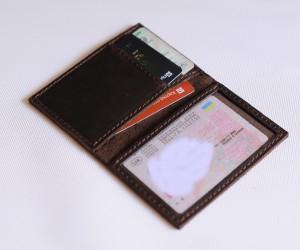 Обложка на паспорт нового образца Кожа: крейзи хорс