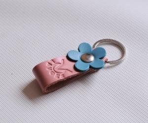 Брелок цветок Кожа: кайзер