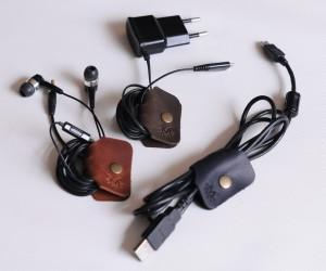 Холдер для навушників та USB-кабелів Шкіра: кайзер