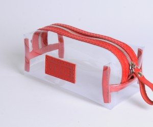 Косметичка Пенал прозора Шкіра: кайзер