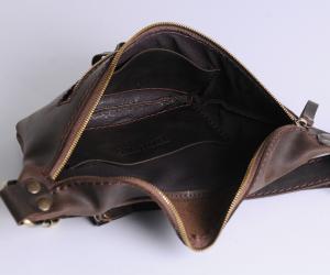 """Поясна сумка """"Дізі"""" Шкіра: Крейзі хорс"""