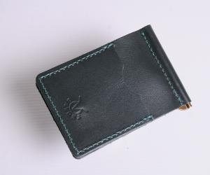 Зажим для денег с монетницей Кожа: кайзер