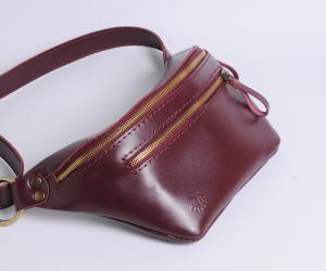"Поясна сумка ""Дізі"" Шкіра: кайзер"