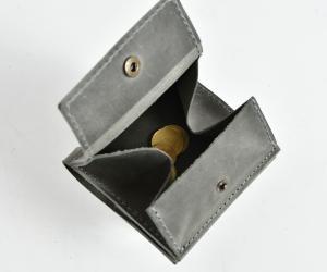 """Зажим для грошей """"Гібрид з монетницею"""" Шкіра: Крейзі хорс"""