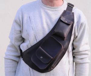 шкіряна поясна сумка